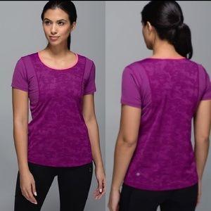 Lululemon Run For Days Purple Camo Top